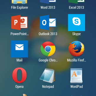 Here's the Parallels Access home screen.
