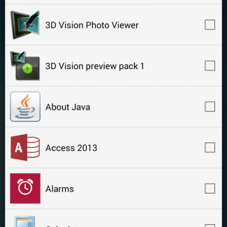 Add more apps to your home screen from here.