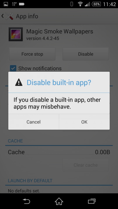 disable apps android screenshot