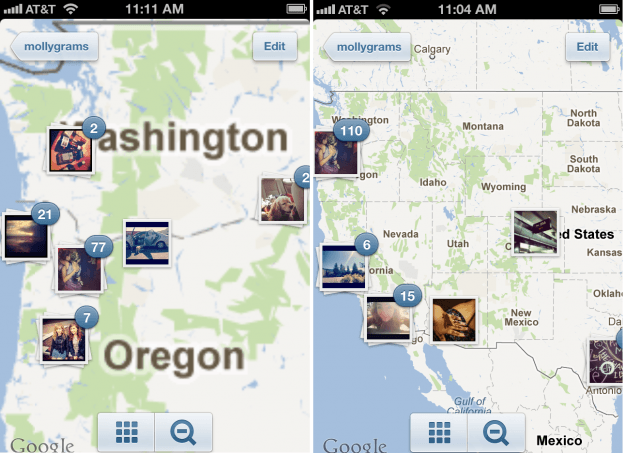 instagram screenshots maps