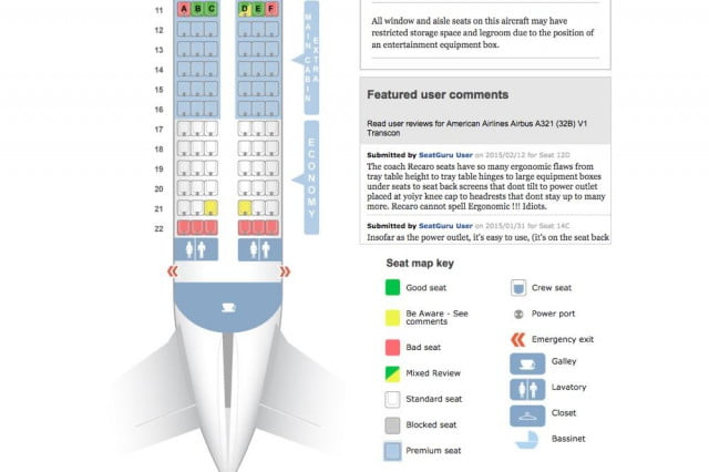 SeatGuru's website and mobile app (now owned by TripAdvisor) is loaded with aircraft information for nearly airline. It also has user comments, which can be very helpful.