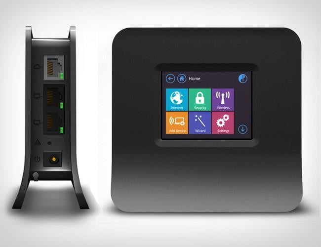previewing almond the touchscreen wireless router securifi