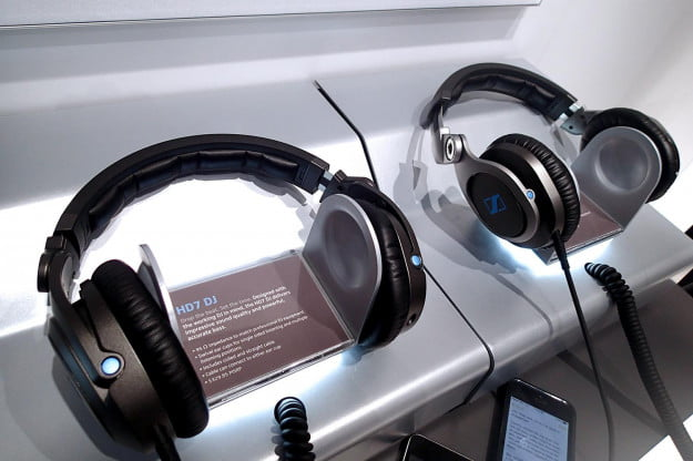 Sennheiser HD8 DJ headphones side by side