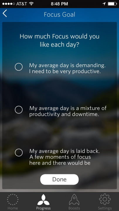 spire activity tracker review settings  focus goal