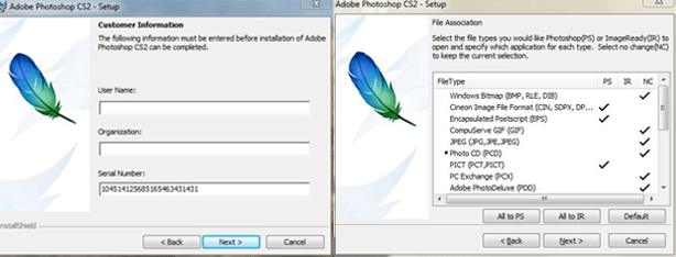Setup Adobe Photoshop