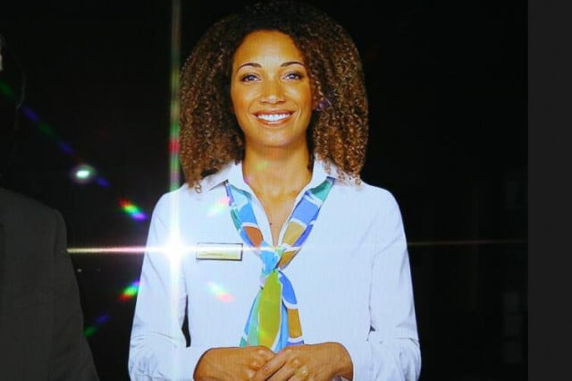 hologram replaces human receptionist at council office in london shanice