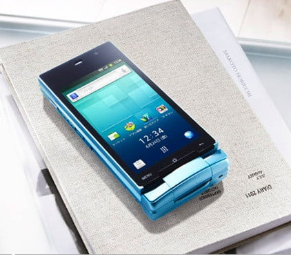 sharp-aquios-clamshell-android-reversed-on-a-book