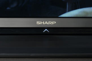 sharp aquos 60le650u 60 inch led tv series 50 70 80 front logo macro