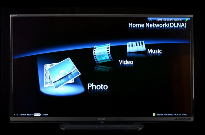 sharp aquos lc  le review u inch led tv series home network screen