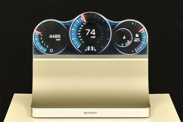 sharps new lcd shaped for cars wearables and more sharp free form display