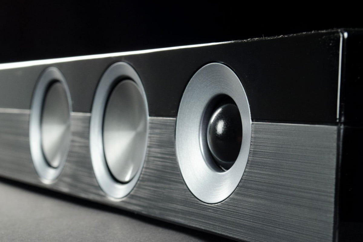 Sharp HT SB60 Soundbar review speakers closeup