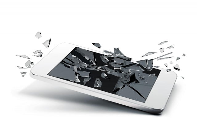 japanese develop ultra light durable glass shattered phone screen