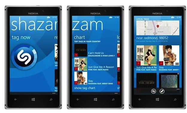 Shazam Windows Phone 8 App