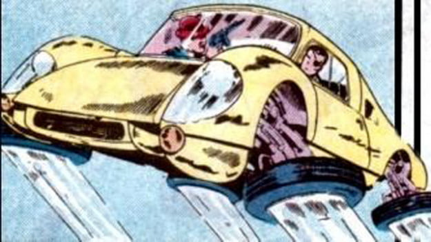 nick fury flying porsche