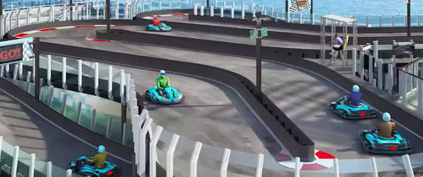 Seriously?! A cruise ship is slapping a go-kart track on its deck