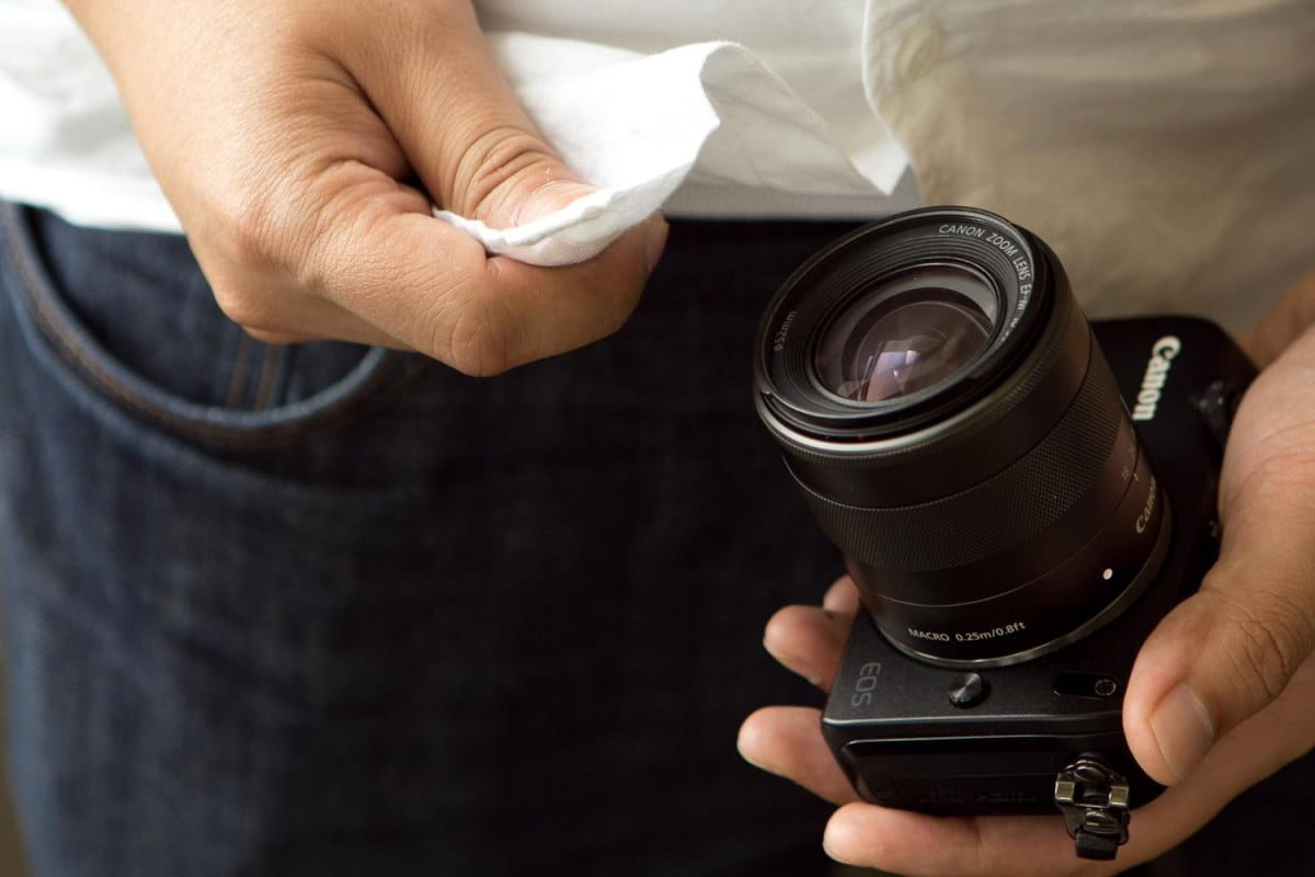 easy camera care tips shirt wiping lens
