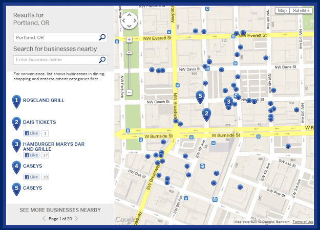 shopsmall amex map