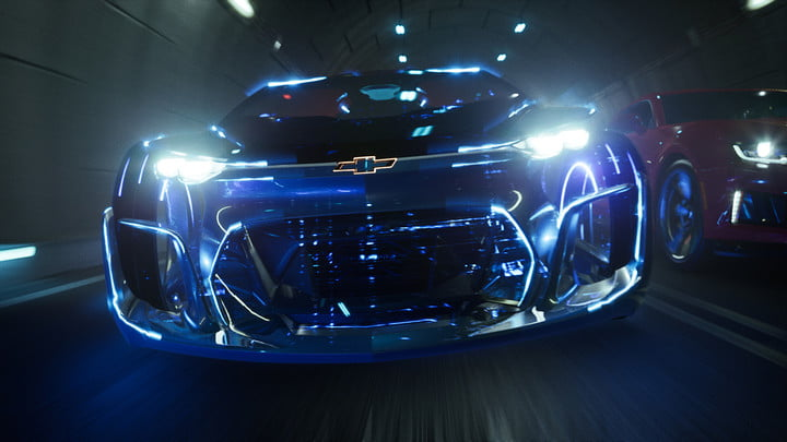 epic games unreal engine  powers new chevrolet car customizer shot final tunnel in