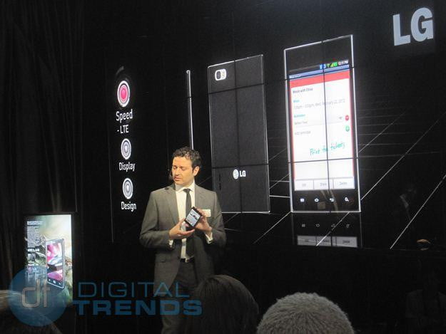LG mwc 2012 press conference