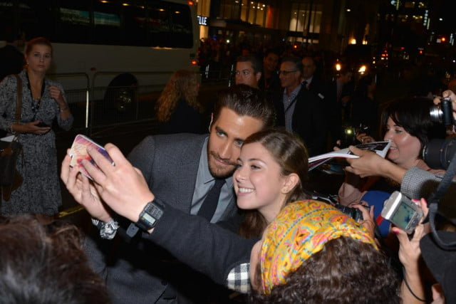 cannes film festival bands red carpet selfies jake gyllenhaal selfie