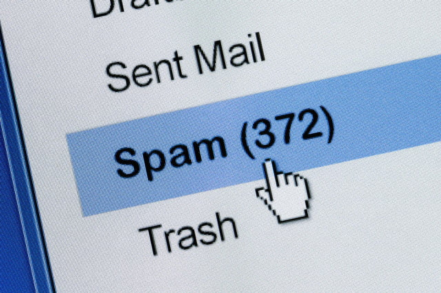 email spam  year low shutterstock