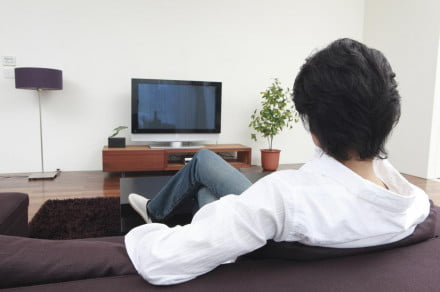 man watching tv