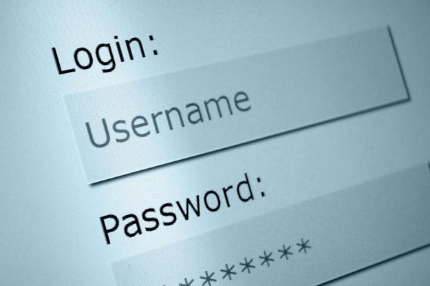 username and password shutterstock