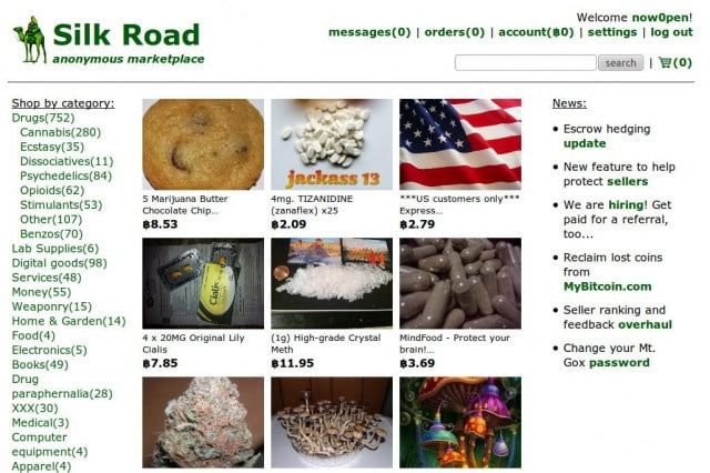 Silk Road, one of the most famous (and sordid) sites on the Tor network