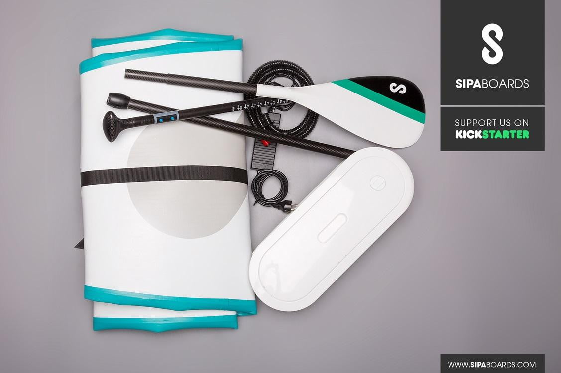 SipaBoard, the electric self-inflating stand-up paddleboard