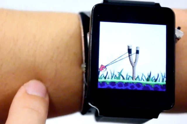 skintrack smartwatch interface