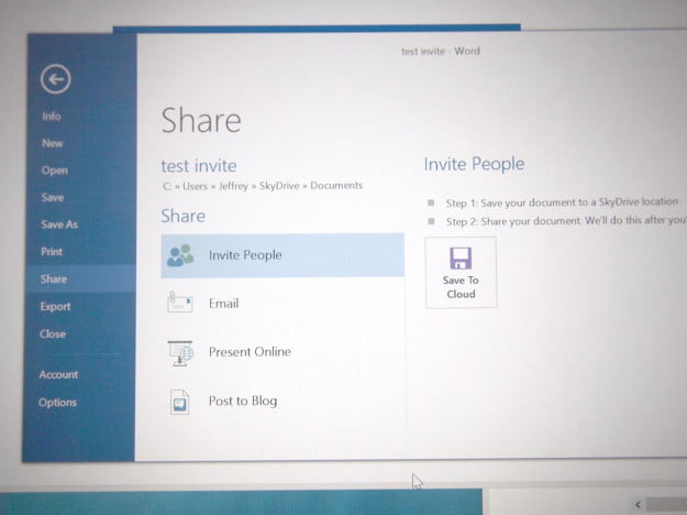 SkyDrive Windows 81_Word sharing