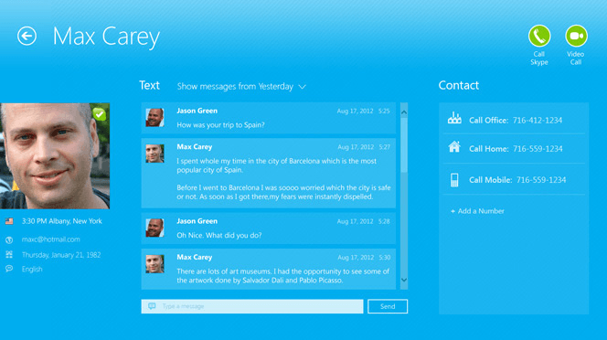 skype contact about page