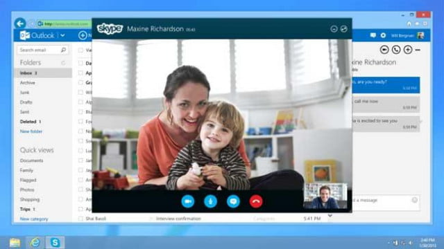 now you can skype straight from your outlook com account dt