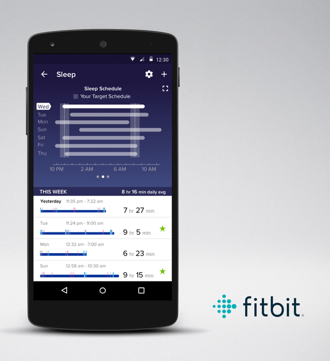 fitbit sleep goals schedule android tracking