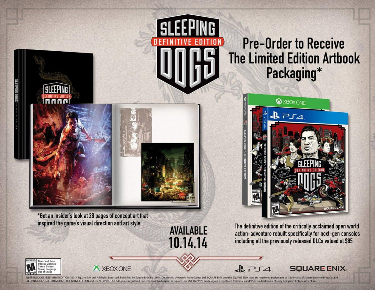 sleeping dogs definitive edition coming xbox one playstation  october
