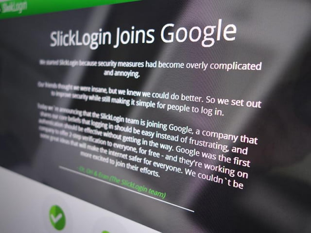 google scoops audio password startup slicklogin slick