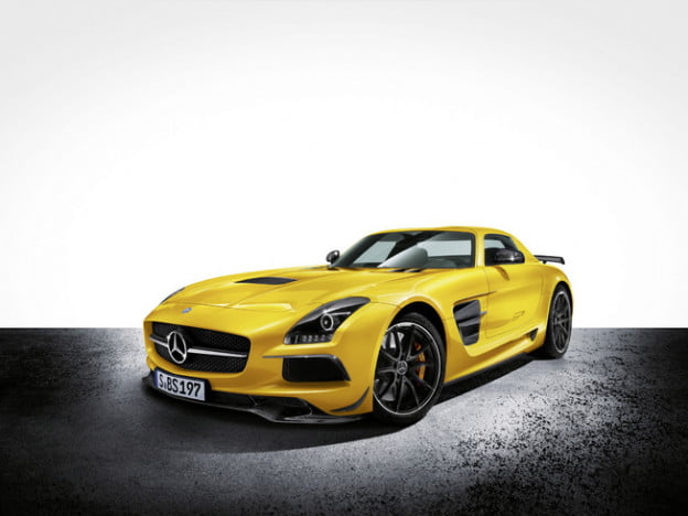 Mercedes-Benz SLS AMG Black Series front three quarter view