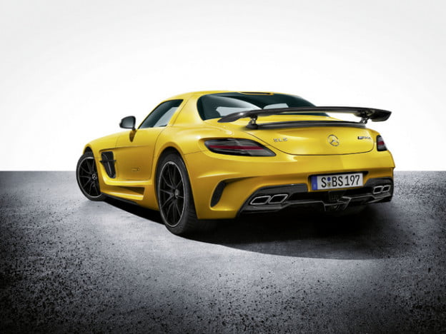 Mercedes-Benz SLS AMG Black Series rear three quarter view