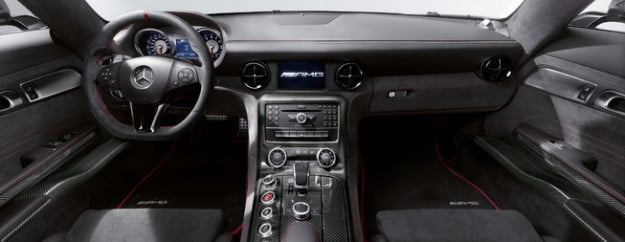 Mercedes-Benz SLS AMG Black Series interior view