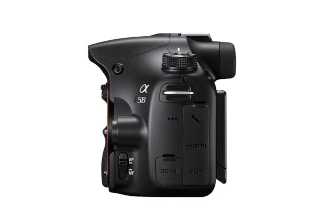 sony unveild new alpha a  dslr slt leftside