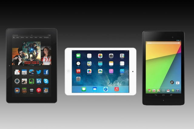 ipad mini  vs nexus kindle fire hdx smalltabletbanner