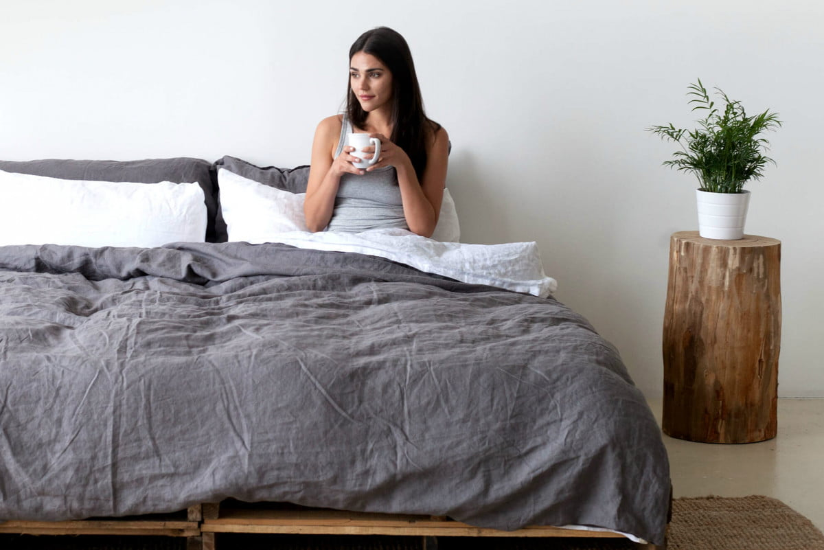 smart beddings linen sheets snap to the duvet cover bedding