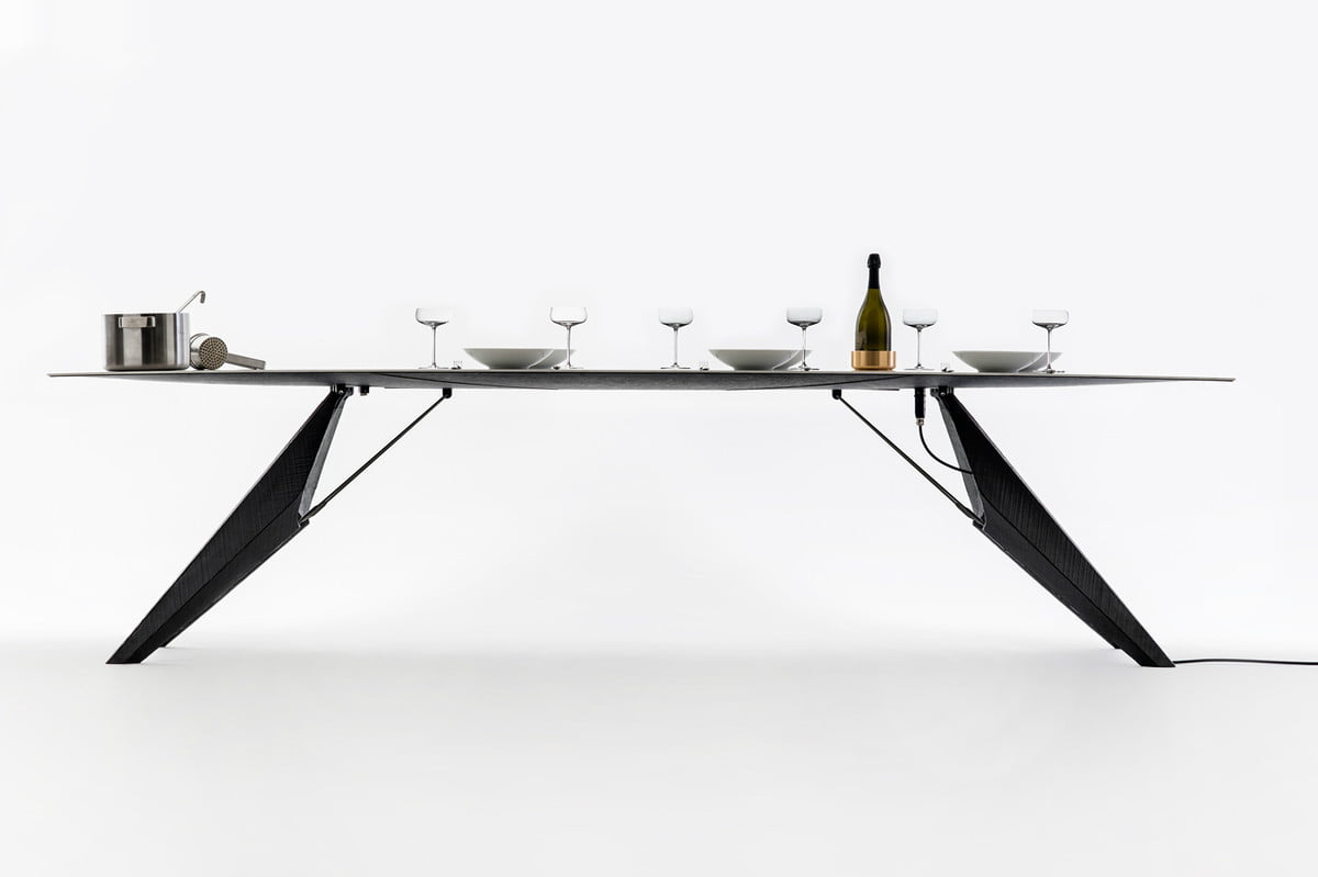 three badass kitchens from milan design week smartslab table