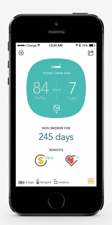 smokio first smart e cigarette tracks nicotine consumption home