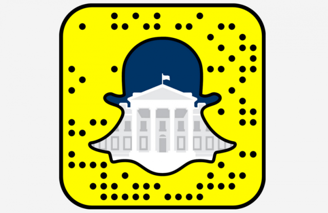 white house joins snapchat