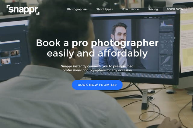 snappr photography booking service