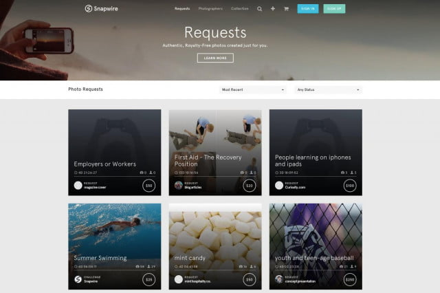 snapwire revolutionizes stock photo agency requests screenshot