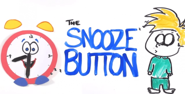Snooze button ASAP Science video