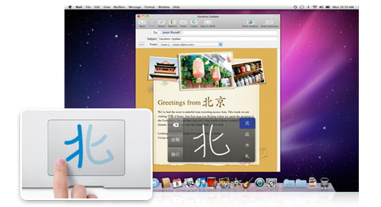 Snow Leopard offers innovative Chinese character inputSnow Leopard offers innovative Chinese character input