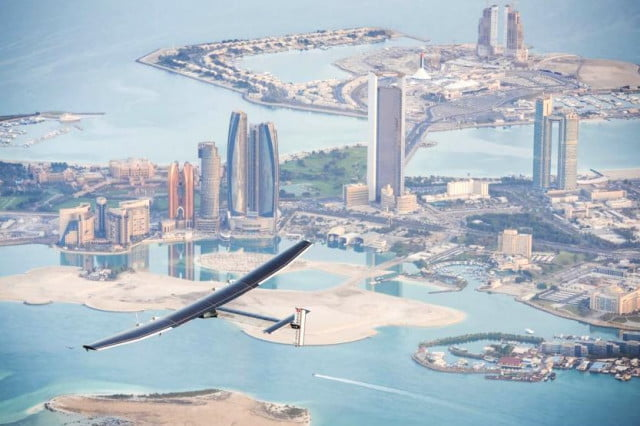 solar impulse  starts epic around the world flight plane